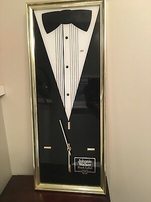 "Vintage Johnnie Walker Black Label Tuxedo  Clock 25""x10"""