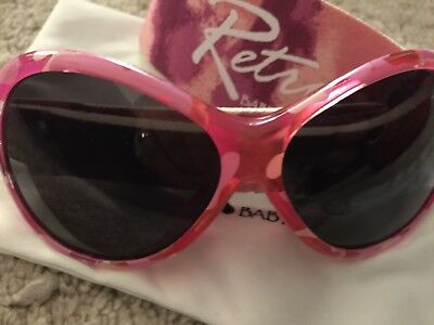 Baby Banz Retro Sunglasses 100% UVA/UVB Protection (Ages 0-2yrs) Pink Diva