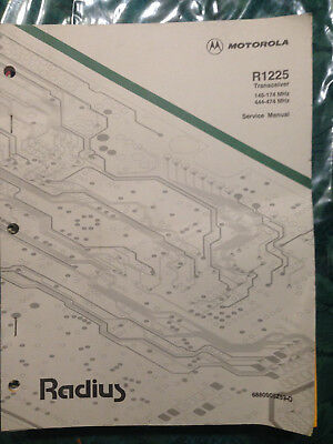 Motorola R1225 Factory Service Manual for Twoway Radio