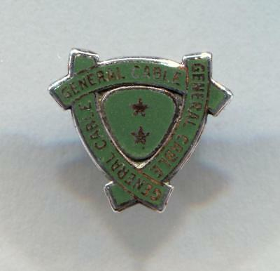 Vintage Sterling Silver General Cable Company Service Pin, 1927 - 1963.