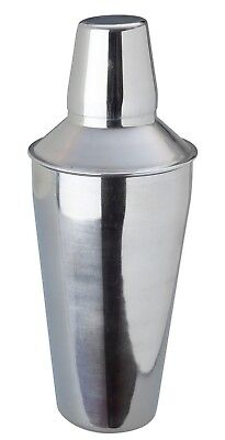 Cocktail Shaker Manhattan Style Stainless Steel 3 Piece Built in Strainer 750ml