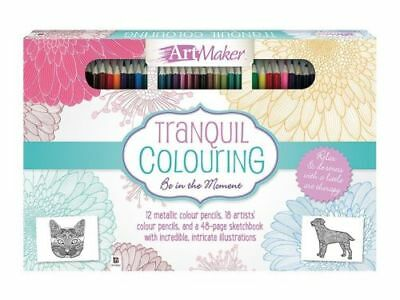 Art Maker Ultimate Colouring Experience Tranquil Coloring Book Relax De-Stress