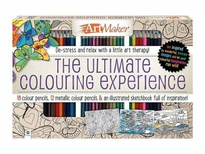 Art Maker The Ultimate Colouring Experience Coloring Book  Relax De-Stress