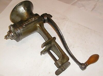 "Vintage Universal No. 3  Meat Grinder - Large 9 1/2"" Swing, Clamp Up To 2"" Table"