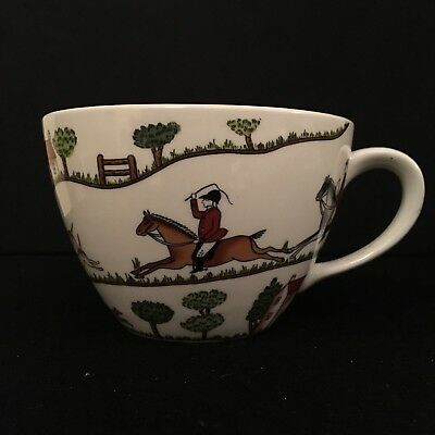 Vintage Crown Staffordshire Hunting Scene Large Breakfast Cup - 2nd. No saucer