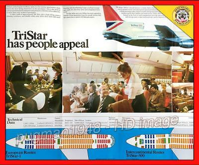 BRITISH AIRWAYS 1980 AIRLINE BROCHURE...Lockheed L-1011 Tristar...Large colorful