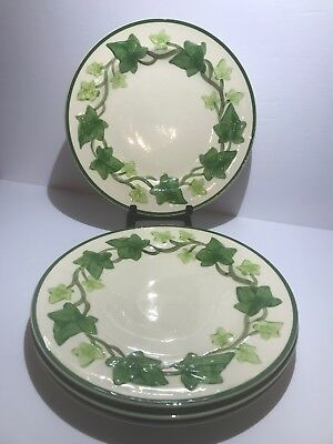 "Vintage Franciscan ""Ivy"" Pattern Dinner Plate  10 1/4 Inch  (4) Plates"
