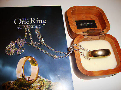 Jens Hansen One Ring Movie Replica Lord Of The Rings Solid Gold W/ Silver Frodo