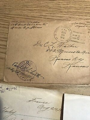 #4 WWI Letter U.S. Army Postal Service August 28 4 Pm 1918