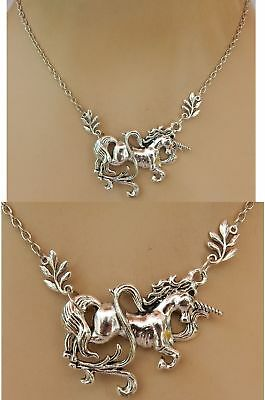 Unicorn Necklace Pendant Silver Jewelry Handmade NEW Chain Adjustable Fashion