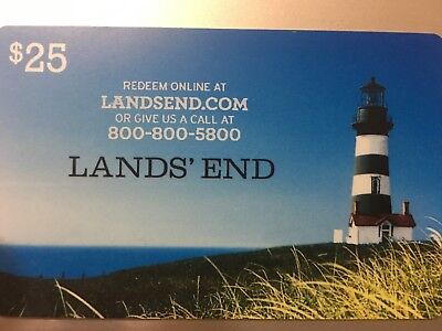 Lands' End - Gift Card $25 - Fast EMail Delivery. Physical card also available