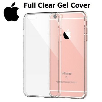 Full Clear Transparent TPU Soft Gel Case Cover For iPhone 5 6 6S 7 8 8 Plus X XS