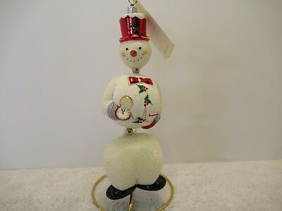 """Patricia Breen~""""kinetic Snowman-Red Hat""""~2003~Fully Glittered~W/tag"""