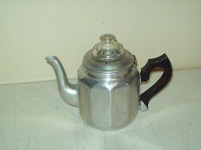 vintage aluminum Stove Top Camping percolator coffee pot USA Mirro 4 cup