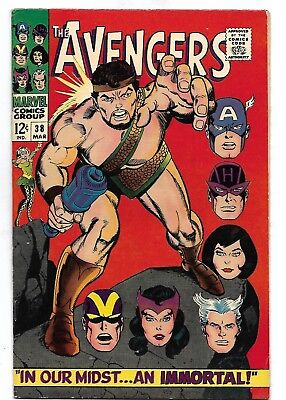 """1967. """"The AVENGERS"""". Vol.1 #38. Silver Age. VF/VF+ 1st Hercules Cover."""