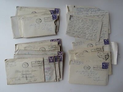 38 WWII Letters Lot Co. K 140 Infantry APO 35 Seattle  WA #9736