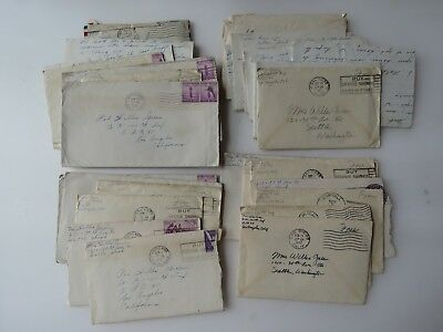 35 WWII Letters Lot Co. K 140 Infantry APO 35 Seattle  WA #9735