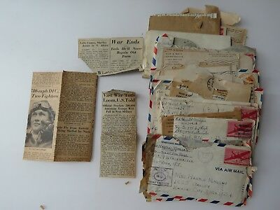 28 WWII Letters Lot 175 Infantry Regt. APO 29 POW Kansas City MO  #9734