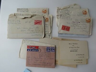 15 WWII Letters Lot US Colonel 4 Battle Stars Otaru Hokkaido Japan WW2 Lot #9726