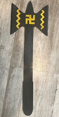 Vintage 1950's Apache Throwing Tomahawk Whirling Log Native American Indian