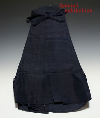 Japan Antique Silk hakama Edo yoroi Kabuto koshirae samurai katana Busho uniform