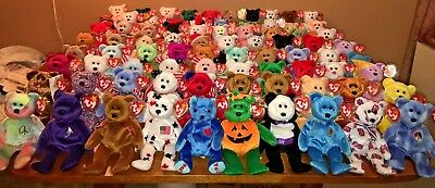 Ty Beanie babies ALL BEARS HUGE LOT of 80 ALL DIFFERENT MWMT   tag  protected! 0ed9ebb7af7