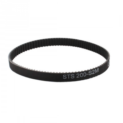 S2M-200 100 Teeth 6mm Width Black Rubber Cogged Industrial Timing Belt