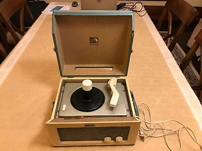 RARE Vintage RCA Victor Victrola Portable Record Player Model 8-EY-31 HE