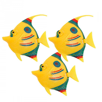 Sourcingmap Plastic Fish Tank Wiggled Tail Decor, 3 Pieces, Tri Color