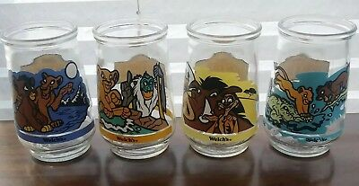 Vintage Welchs Jelly Glasses Disney The Lion King II Simbas Pride Set of 4