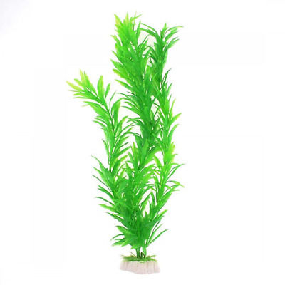 Sourcingmap Plastic Fish Tank Grass/Plant Decor, 15.7-Inch, Green