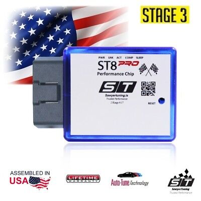 For VW Stage 3 Performance Chip ECU Tuner Fuel Race Engine Speed Plug Play