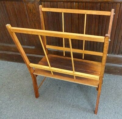 Vintage Wooden Print Display Rack Portfolio Deep & Sturdy Breaks Down to Store