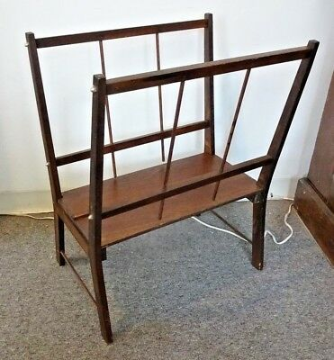 Vintage Dk Wood Print Display Rack Portfolio Deep & Sturdy Breaks Down to Store