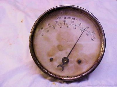 Vintage! THERMOMETER Standard Thermometer Co. Round Advertising ANTIQUE