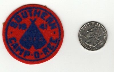 1941 Miniature Southern Camporee Felt Patch, Boy Scouts, Generic, National Issue
