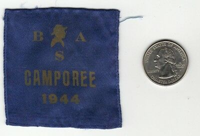 1944  Miniature Cloth Camporee Patch, Boy Scouts of America, Generic Old Vintage