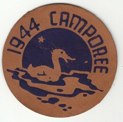 1944 Camporee Leather Patch, Boy Scouts of America, Generic, BSA National Old
