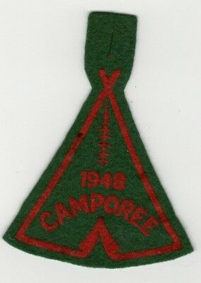 1948 Felt Camporee Patch, Boy Scouts of America, Generic, BSA National issue Old