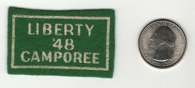 1948 Miniature Felt Liberty Camporee Patch Boy Scouts Generic National Issue
