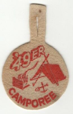 1949 Felt Camporee Patch, Boy Scouts of America, Generic, BSA National issue Old