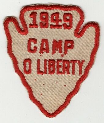 1949 Camp O Liberty Summer Camp Patch, Boy Scouts of America, BSA Old