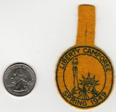 1949 Miniature Felt Liberty Camporee Patch Boy Scouts Generic National Issue old