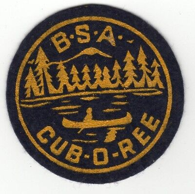 Vintage Felt Cuboree Camporee Patch, Boy Scouts of America, Generic, BSA Old