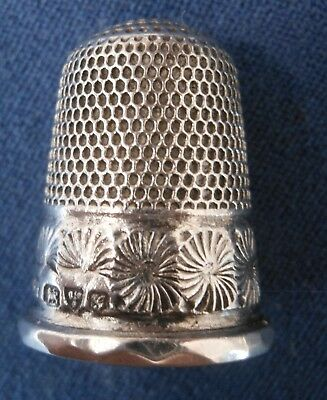 Antique Sterling .925 Silver Thimble