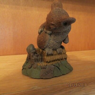"Vintage Tim Wolfe 4"" Figure Lexie the Rat Sitting on an Ear of Corn SIGNED 1992"
