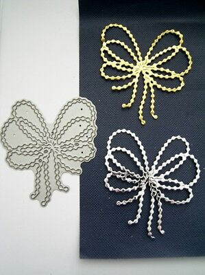 PEARL STRING BOW - DIE D1344 - TATTERED LACE Stephanie Weightman