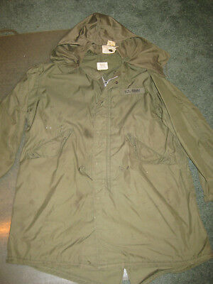 WWII Vintage US Army Parka w/Hood, Man's, Arctic, M-65, Dated 1943 & 1945