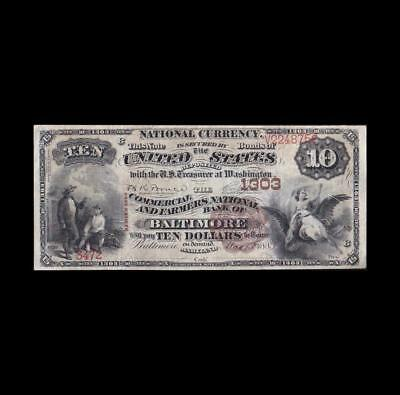 Ultra Rare 1882 $10 Date Back National Strong Very Fine