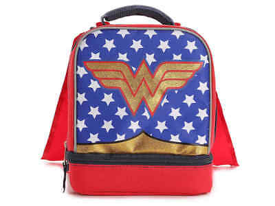 New Wonder Woman Lunch Box Red Blue Gold NWT